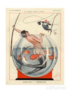 1920s France La Vie Parisienne Magazine Plate Prints at AllPosters.com
