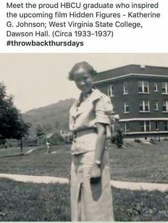 Soror /Dr. Katherine G. Johnson when she attended WV State College(now University) our alma mater. .our Nu chapter of Alpha Kappa Alpha Sorority, Incorporated #WVSC/U1891 #NU1922 #AKA1908 #Hidden Figures