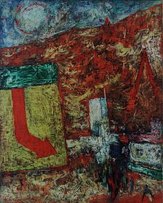 Red Landscape by Mordecai Ardon