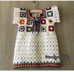 Crochet Crochet Toddler Dress, Crochet Baby, Knit Crochet, Baby Clothes Patterns, Baby Patterns, Crochet Patterns, Crochet Cupcake, Crochet Shirt, Girls Blouse