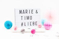 Eilnachricht: Lightboxen und Pastellgirlanden gibts jetzt im Shop! - Hochzeitsblog Fräulein K. Sagt Ja