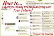 How to export your family tree from Ancestry.com. Free Tutorial. www.tmgenealogy.com