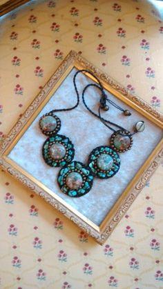 tierra (ティエラ)マルチグリンカラー丸石ネックレス ¥16,200