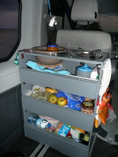 Car Camping Storage Vehicles New Ideas Minivan Camping, Camping Storage, Truck Camping, Camping Hacks, Camping Tarp, Camping Organization, Suv Camper, Kombi Motorhome, Mini Camper