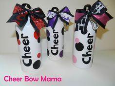 "Polka Dot ""Cheer"" Water Bottle by Cheer Bow Mama"