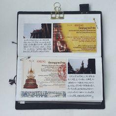 #thailand #travelersnote #travelersnotebook #stationeryholic #stationery #手帳 #手帳好朋友