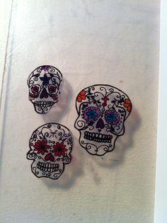 Shrinky Dink Skulls.. magnets