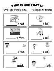 English worksheet: This is and That