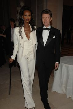 Le Smoking: David Bowie and Iman at the Costume Institute Gala at The Metropolitan Museum of Art, New York 2007