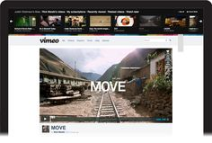 Vimeo's redesign puts the user (and the community) at the center of the experience.