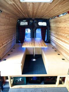After using the van with the simple platform for a bed, table and place to hang out for a year, we decided it was time to go to the next level: Build an all-in-one...