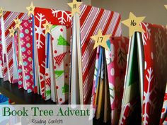 Book Tree Advent from Reading Confetti - LOVE it!