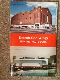1979-1980 detroit red wings nhl hockey media guide #vintage/ olympia to joe louis from $3.99