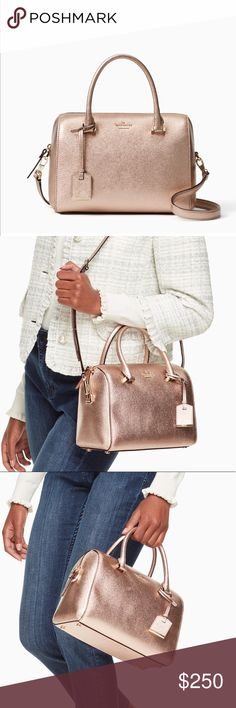 Cameron Street Large Lane I am obsessed with this rose gold purse. Very beautiful. Not too big and not too small. It's a way-more-than an accessory accessory. kate spade Bags Crossbody Bags