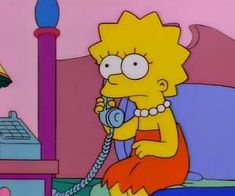 Image about cartoon in The Simpsons by 𝒦𝓇𝒾𝓈𝓉𝒾𝓃𝒶 ℛ𝑜𝓂𝒶𝓃𝑜𝓋𝒶 Cartoon Wallpaper, Iphone Wallpaper, Cartoon Profile Pictures, Profile Pics, Simpsons Cartoon, Aesthetic Images, Lol, Reaction Pictures, Lisa Simpson