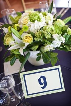 Table numbers for sister's wedding - made during one episode of The Voice