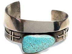 Aaron Anderson –Number Eight Turquoise –Pueblo Inspired - Bracelets