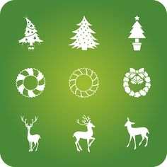Christmas, Holidays, Icons