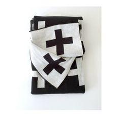 Large Reversible Cross Knit Sweater Blanket
