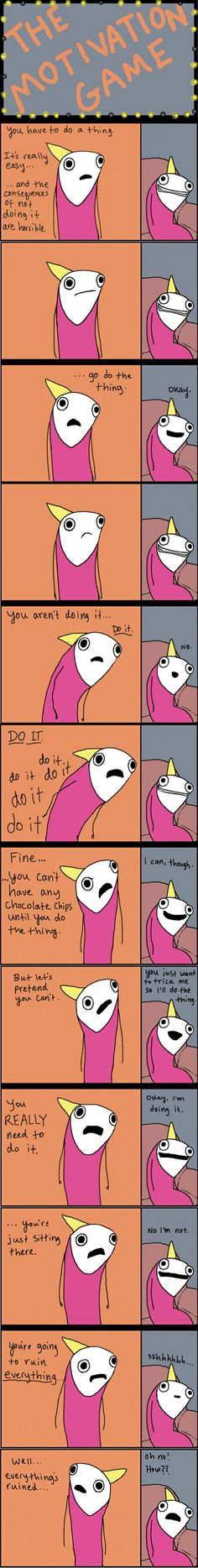 The Motivation Game by Hyperbole and a Half