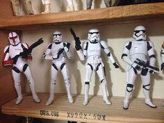 Evolution!  #starwars #star #wars #stormtrooper #jedi #sith  #blackseries #starwarsfan #yoda #art #r2d2 #hansolo #bobafett #lukeskywalker #geek #forcefriday #cosplay #darkside #chewbacca #starwarday #lightsaber #toys #theforce #instagood #kyloren #thelastjedi #c3po #clonetrooper #Clone #rogueone