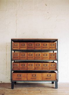 Absolutely perfect card catalogue cabinet.