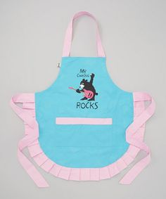 Look at this #zulilyfind! Blue 'My Cooking Rocks' Apron by Lazy One #zulilyfinds