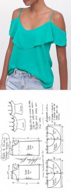 Blusa Ombros Vazados Com Manga