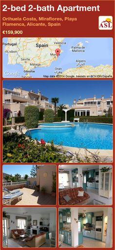 2-bed 2-bath Apartment in Orihuela Costa, Miraflores, Playa Flamenca, Alicante, Spain ►€159,900 #PropertyForSaleInSpain