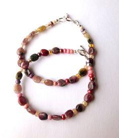 Tourmaline Rainbow Bracelets by ZhiJewelry on Etsy
