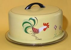 1940s cake saver. I luv collecting cake savers/plates. This is just adorable!