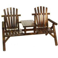 American Furniture Classics Log 2 Seat Fir Wood Tete-a-Tete Bench Finish: Burnt Metal Furniture, Unique Furniture, Cheap Furniture, Discount Furniture, Rustic Furniture, Outdoor Furniture, White Furniture, Kids Furniture, Furniture Plans
