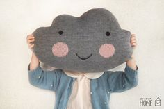 With these delightful, handmade knit cloud pillows from Etsy Seller, Ko-Ko-Ko Shop, from Saint-Petersburg, Russia, a child will have their head in the clouds. An excellent holiday gift idea for children, they would also work well as a child's travel pillow if you are venturing from home this holiday season. Of course, they are also right at home in a playroom or nursery, and depending on a room's style, a fun accent in your living room or bedroom. http://www.explorehandmade.com/post/35778297612