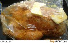 Máslové kuřátko pečené v sáčku Camembert Cheese, Pork, Dairy, Meat, Recipes, Kale Stir Fry, Ripped Recipes, Pork Chops