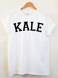 KALE Unisex Tshirt Vegan Vegetarian Shirt by FrankieMadeMe on Etsy