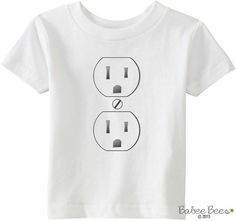 Costume Shirt for Baby or Toddler Electrical Outlet by BabeeBees