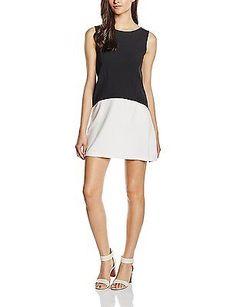 Large, multi (Nero/ Bianco), Les Sophistiquees Women's Abito Smanicato Dress NEW