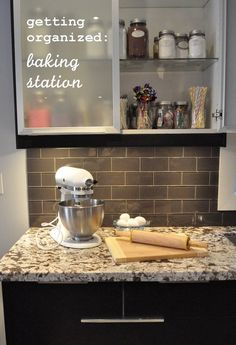 Getting Organized -Baking Station