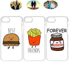 diy phone case 782922716458536224 - Cute Best Friends Forever Ham Burger Batata Matching Bff Hard Phone Case Cover Source by Bff Iphone Cases, Bff Cases, Hard Phone Cases, Diy Phone Case, Cute Phone Cases, Phone Cover, Best Friend Cases, Friends Phone Case, Samsung Galaxy S6