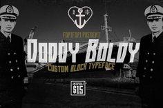 Doddy Boldy Typeface by fopifopi on @creativemarket