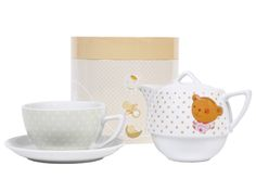 Patchi's Bear Tea Pot & Cup Set (Pink). A great gift for a mommy-to-be or for guests of a baby shower!