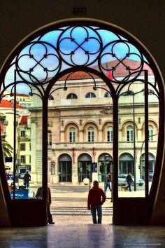 Main railway station Lisbon, Rossio ,Portugal...