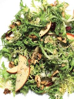 Frisée and Apple Salad with Dried Cherries and Walnuts: Quick Recipes Recipe: bonappetit.com