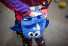 Blue Bat Chalk Bag by Crafty Climbing @craftyclimbing