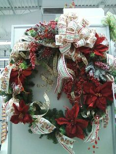 Country Christmas wreath by Tiffany Pickerel