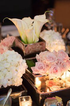 Say It With Flowers: hydrangeas and calla lilies for a wedding centerpiece