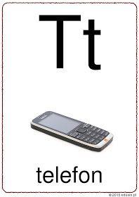 litera t do wydruku Polish Language, Phone, Speech Language Therapy, Telephone, Mobile Phones