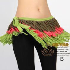 Tribal belly dance costume hip scarf belt wrap tassels