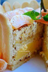 Mandarin cake with vanilla-cream mousse   Дорогие друзья! Спешу вас поздравить с наступающими новогодними праздниками и поделиться рец...