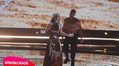 Spain: Edurne changes dress, Dancer goes shirtless at second rehearsal
